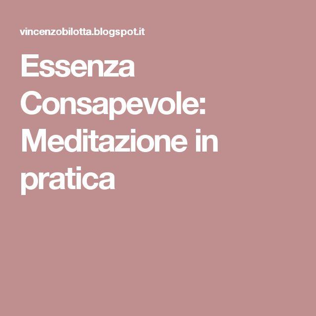 Essenza Consapevole: Meditazione in pratica