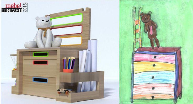 Trend I - W dobre ręce - krzesło Sezamek, Agnieszka Bielawska-Januszkiewicz - projekt inspirowany rysunkiem Gabrieli Toporek