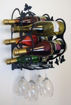VWI WR-WM-157-M Wall Mt. Grapevine Wine Rack Powder Metal Coated by Village Wrought Iron, http://www.amazon.com/dp/B0038OWJWW/ref=cm_sw_r_pi_dp_2j4qsb07TT4D3