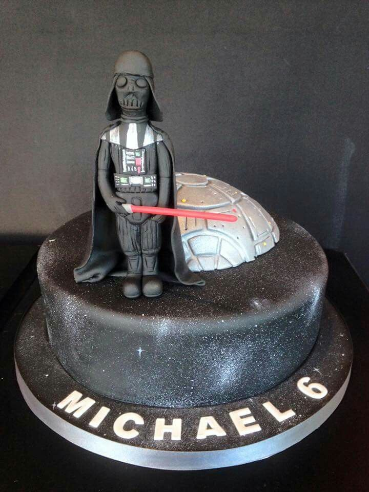 This little boy was delighted when he came to see his Star Wars birthday cake