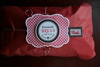 homemade bread packaging