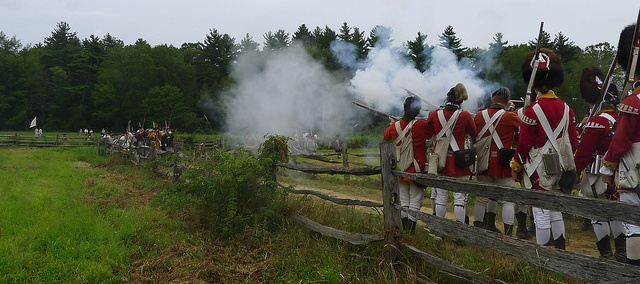 Redcoats & Rebels Revolutionary War Reenactment at Old Sturbridge Village in Sturbridge, MA in August 2011.