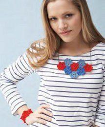 Nautical Poppies Necklace and Bracelet Set   AllFreeJewelryMaking.com