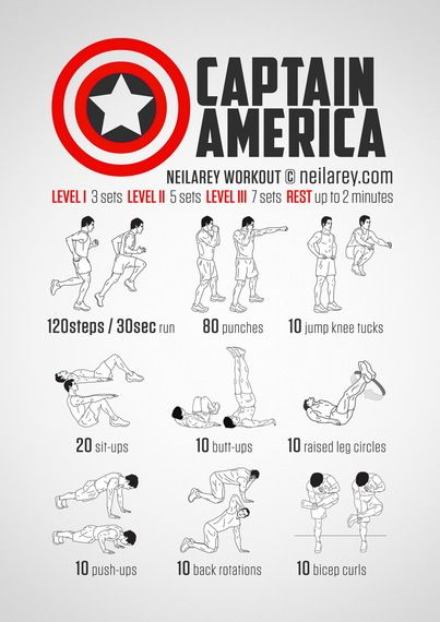 Train Like a Superhero | Neila Rey / Captain America Workout Fitness Strong
