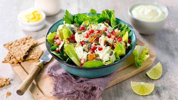 Oppskrift på Kyllingsalat med quinoa og avokado