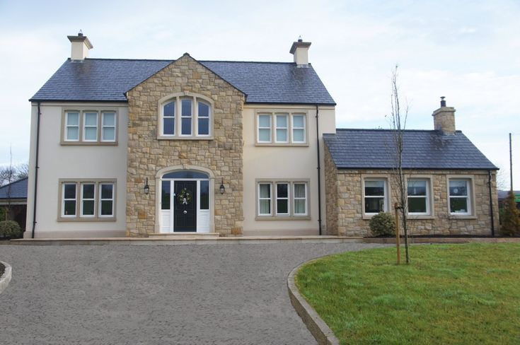 90 Donegal 10 Omagh Sandstone With Sandstone Window Door Surrounds Coolestone Stone Impor House Designs Ireland House Front Design House Outside Design