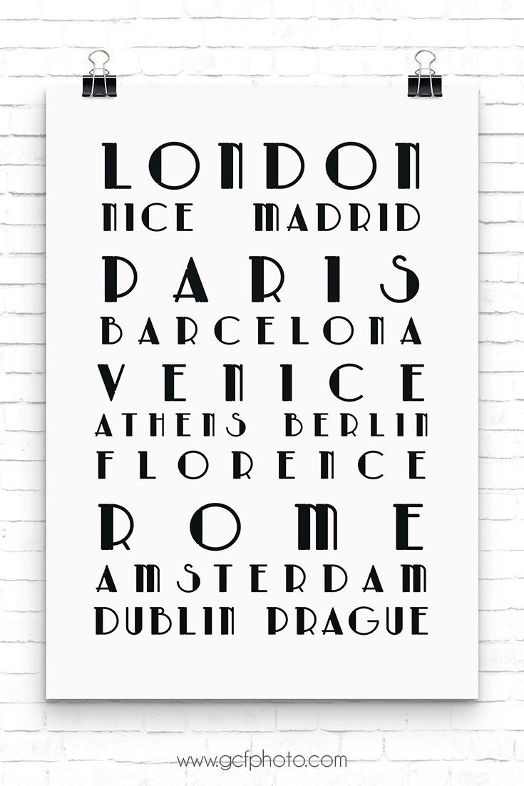 Black & white home wall art for your living room decor. Favourite European cities poster prints for a gallery wall idea. Click through to my website now to see size & colour options.