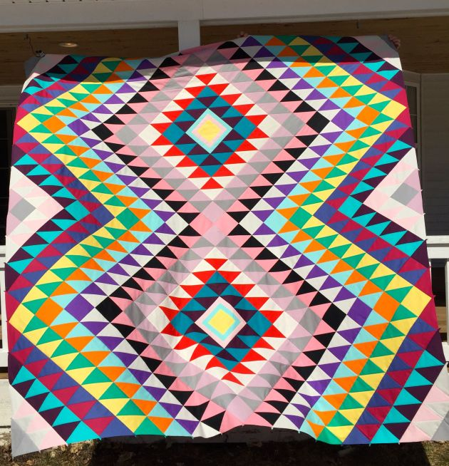 Kilim triangle quilt by sarahschrawdesigns