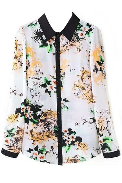 Plum Blossom Button Down ShirtOASAP Giveaway, 10 pieces per day, till the end of 2014! Easiest way to get free clothing!