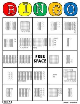 PLACE VALUE BINGO *BASE 10 BLOCKS* - TeachersPayTeachers.com