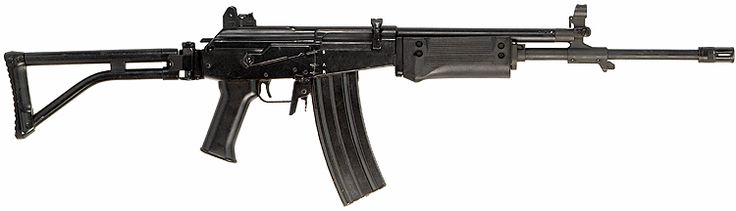 The IMI Galil is a 5.56x45mm assault rifle series based on the AK/Valmet series of assault rifles. It is also produced in slightly modified form by Vektor of South Africa as the R4 family of rifles, Indumil of Colombia and EMEC of Myanmar as the MA-1. Note: make sure of the variant and caliber of the Galil. Often Galil AR and SAR's are simply labeled as Galil ARMs. Identify a Galil by the barrel length and or the existence of a bipod.