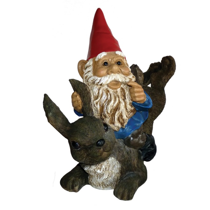 Michael Carr Garrold Gnome On Rabbit 25.04