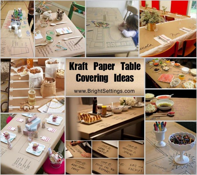 Kraft Paper Is Very Strong And Versatile Which Makes It A Great Table  Covering Option For Many Festivities. Here Are A Few Kraft Paper Table  Covering Ideas.