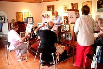 picture of an art workshop taking place