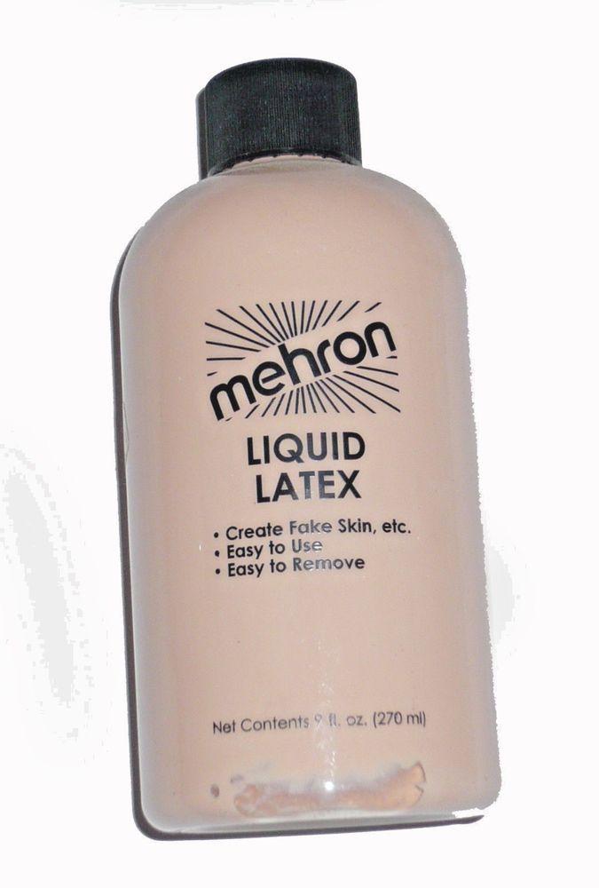 Mehron Liquid Latex 9 OZ Costume Make Up Latex Adhesive Prosthetic Adhesive #LiquidLatex