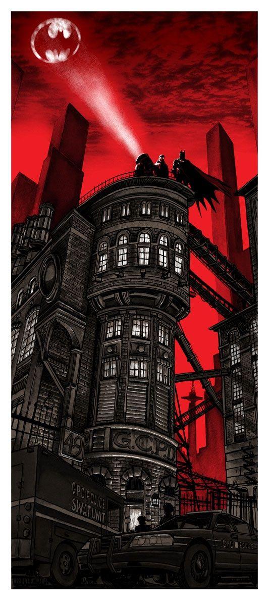 "Batman Art by Tim Doyle - ""Gotham City Police Department"" I'd love this on a shirt!"