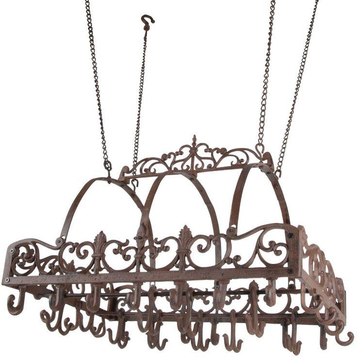 Victorian Iron Pot Rack