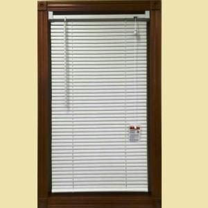 White 1 in. Light Filtering Vinyl Blind - 47 in. W x 64 in. L 20150514 at The Home Depot - Mobile