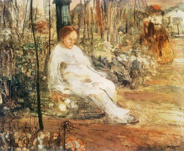 Samotny pierrot  1907. Tempera na płótnie