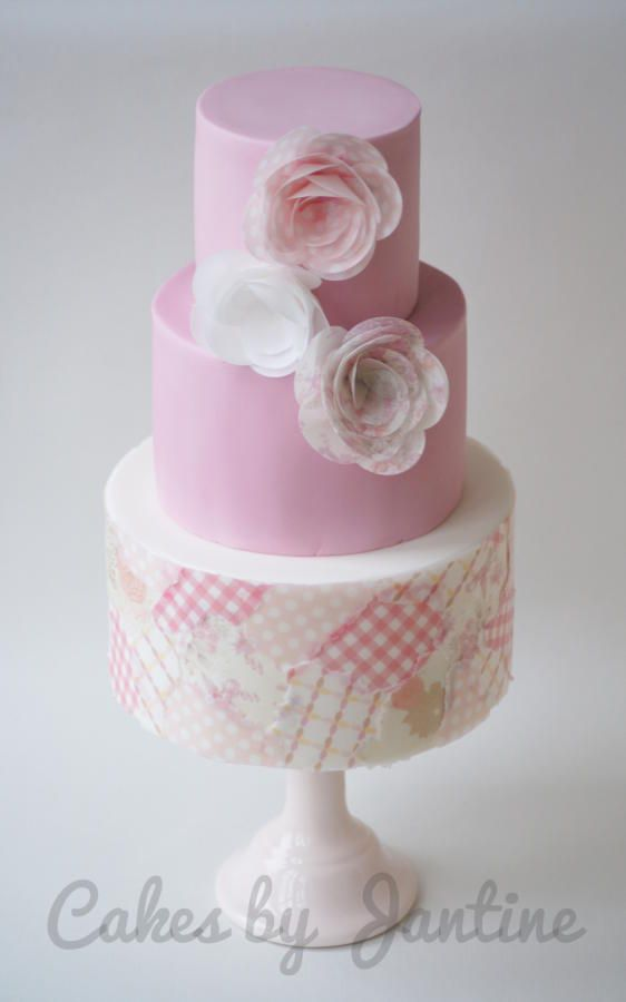Cake Decorating With Edible Paper : Best 25+ Wafer paper ideas on Pinterest Gold large ...