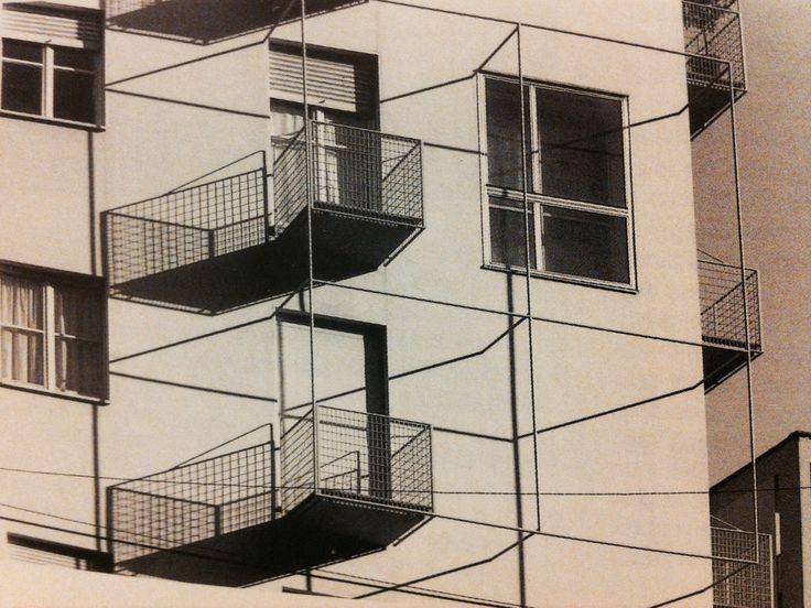 Mario Asnago e Claudio Vender, edificio per abitazioni e uffici, Milano, via Faruffini 6, 1953.