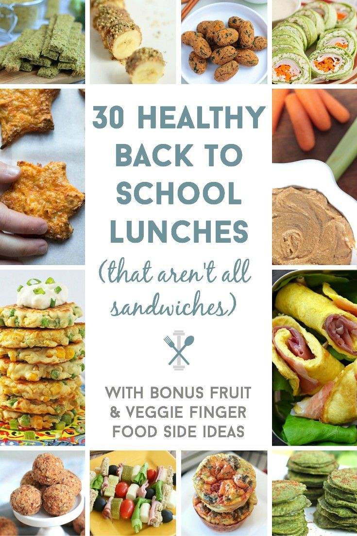 Here are 30 awesome lunchbox ideas for back to school! So many healthy options (that aren't ALL sandwiches).