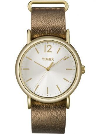 Orologio con cinturino in pelle glitter, Timex
