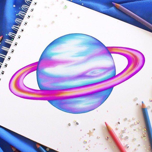 art, color, colorful, colour, colourful, creative, draw, drawing, fun, pencil, planet, tumblr