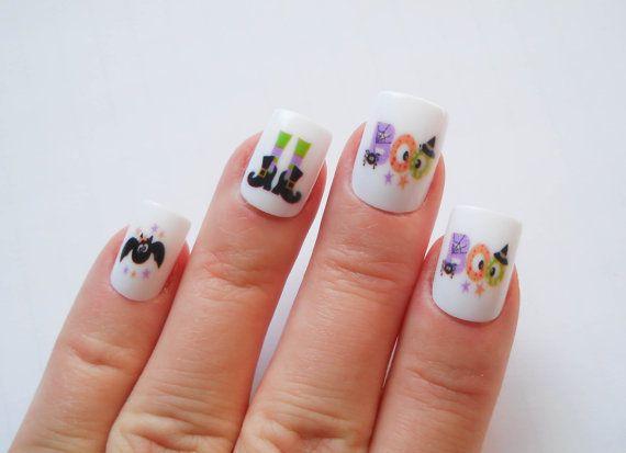 cute halloween fake nails halloween nail art spooky by niceclaws