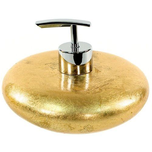 gold round soap dispenser bath and spa accessories