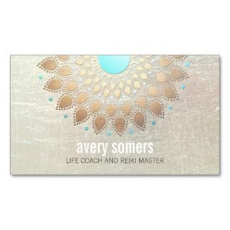 Gold Lotus Yoga and Meditation Teacher Health Spa Business Card Templates