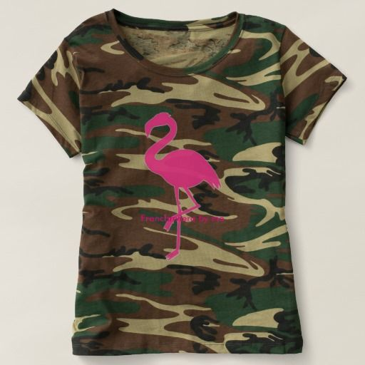Tee-shirt camouflage rose Flamand T-shirt