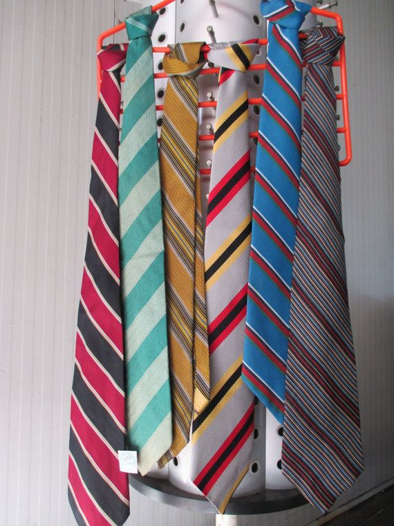 Cravatte anni 60 e 70/Righe e colori/Made in Italy/Amazing stripes ties from the 60s and 70s/Made in Italy