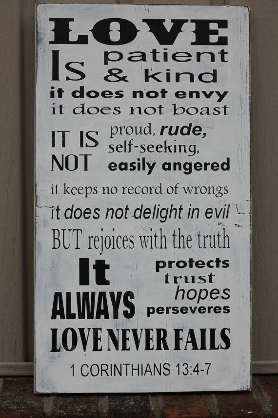 Love is patient love is kind Bible verse by SimpleChicLiving, $45.99