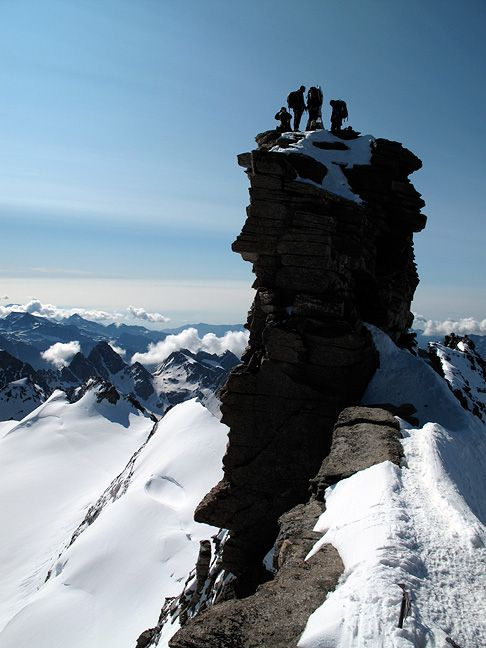 The Madonna Summit of the Gran Paradiso, a mountain in the Graian Alps located between the Aosta Valley and Piedmont regions of north-west Italy.