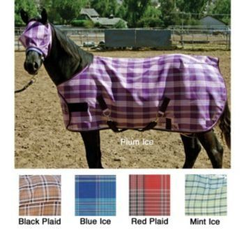 Kensington KPP Weanling/Pony Horse Protective Fly Sheet, Blue Ice Plaid, 50-Inch to 58-Inch by Kensington. $75.03. Large overlapping Hook & Loop front closure for adjustability & two 2? criss cross surcingles, snaps & D?s for easy fastening & elastic rear leg straps. Made of Textilene/Grooming Mesh. Maximum year-round protection. Sheet can be layered over Kensington blanket to last longer & for added protection. Blocks harmful UV rays & prevents insect bites, dirt/grime on t...