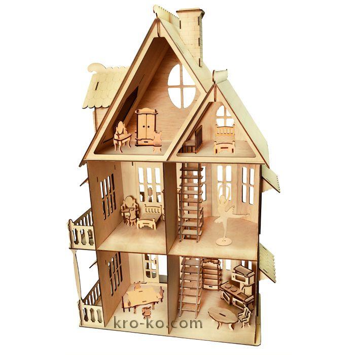 инструкция по сборке кукольного домика из дерева
