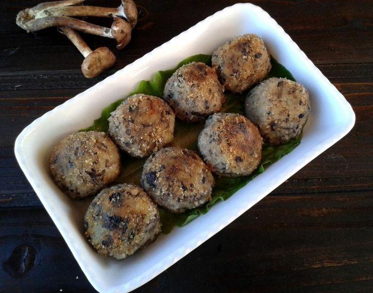 Polpette di funghi e patate con briè