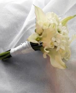 Calla Lilies & Stephanotis Bridesmaid bouquet