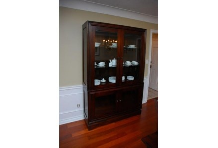 The Portman Glass Display Cabinet Solid Wood Dining Buffet Is Functional And Elegant Customize Sizing To Fit Your Space