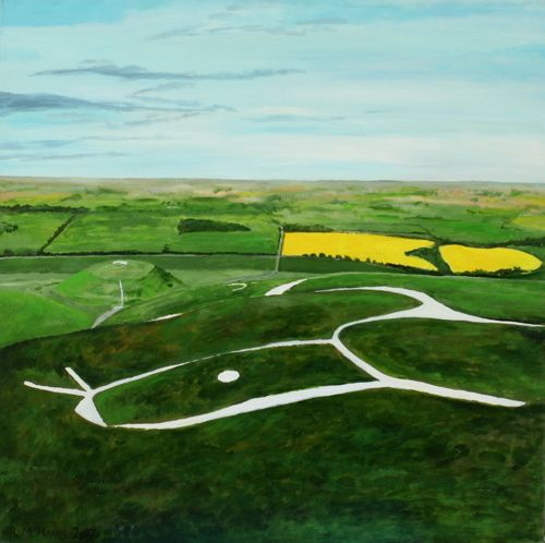 The view from the Uffington White Horse.. Original Painting