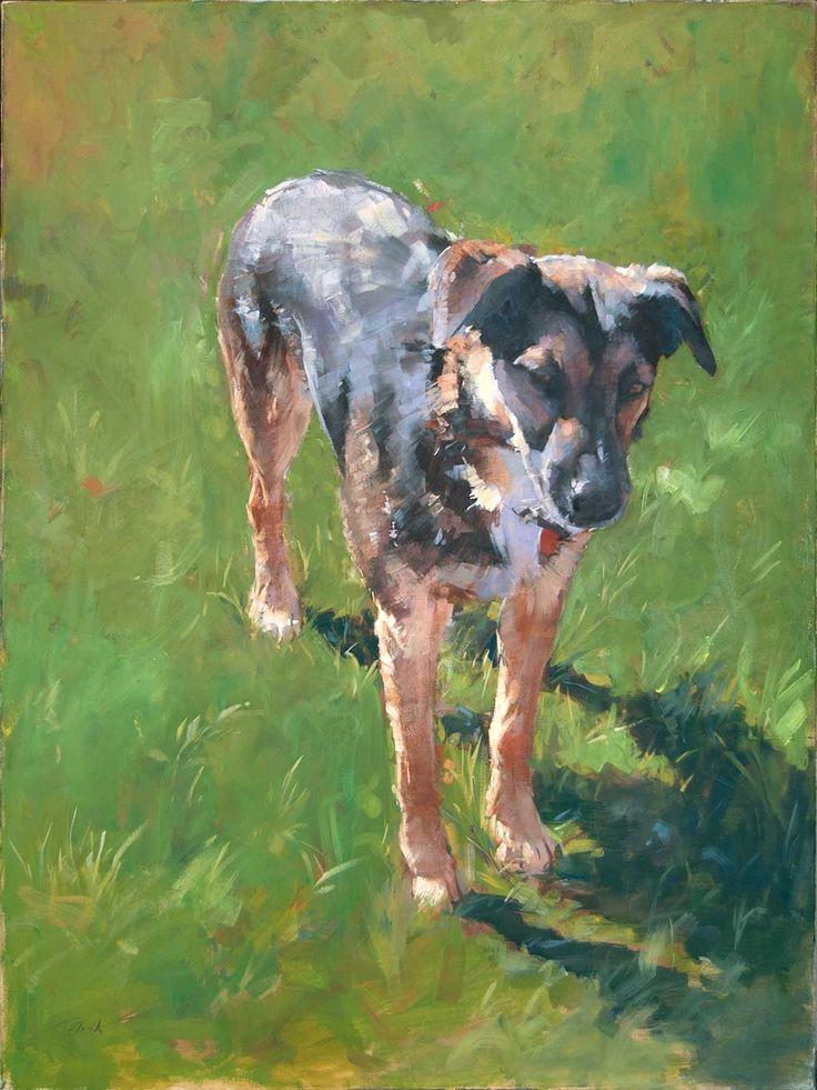 Patrick Saunders Fine Arts - Dog Portrait - Painting - Oil on Canvas - Barney