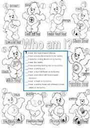English worksheet: Who am I? colors and numbers one to ten