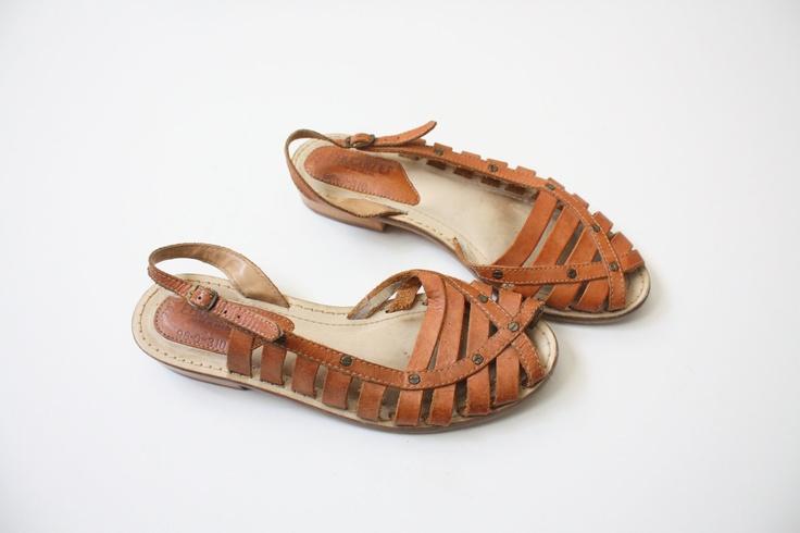 Vintage Leather Sandals 14