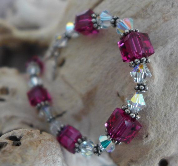 Be the life of the party with the eye popping sparkle from this Swarovski crystal and sterling silver bracelet, handmade by Bethany Rose Designs. See more handcrafted jewelry at www.BethanyRoseDesigns.etsy.com