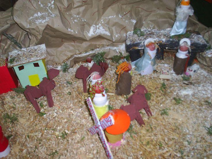 Belen de Navidad con material de reciclaje