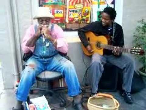 French Quarter, New Orleans .. Jazz / Blues Musicians ... just 2 unknown buskers givin' it their all...soooo friggin' good!!!