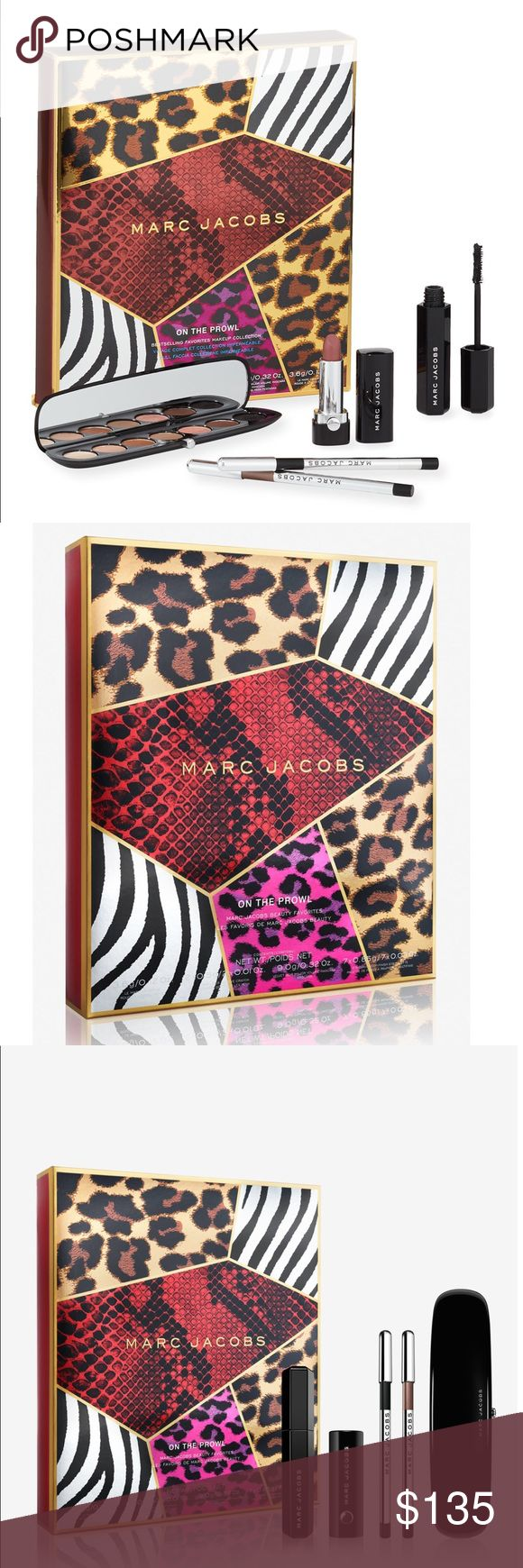 Marc Jacobs Collection Marc Jacobs On the Prowl Full Face Collection. 100% authentic! Brand new with tags!   A limited edition 5-piece collection of bestselling longwear lipstick, volumizing mascara, waterproof gel eyeliners and a 7-pan eyeshadow palette. Marc Jacobs Makeup Eyeshadow