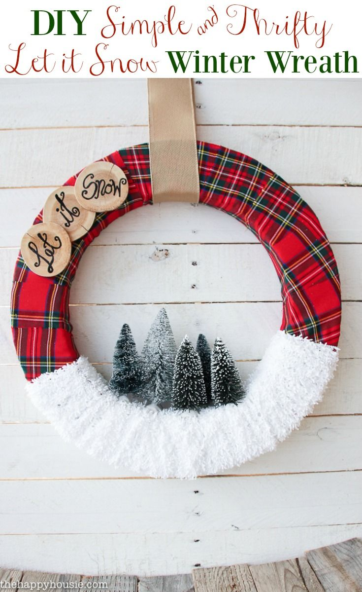 Modern wreaths for front door -  Let It Snow Christmas Wreath