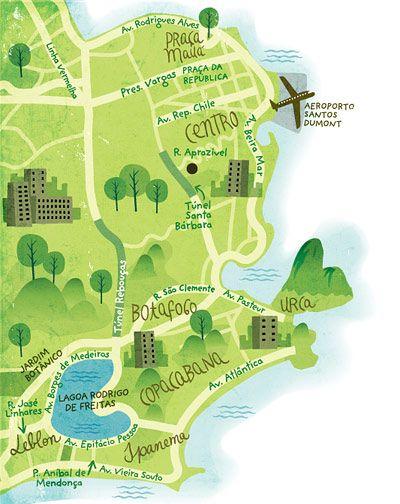 Map of Rio - Mauricio Pierro